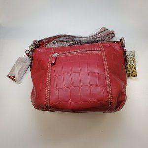 Tignanello Red Leather Handbag NEW